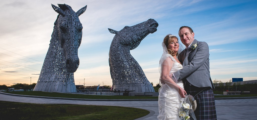 Kelpies, Falkirk, Grangemouth, Helix, wedding